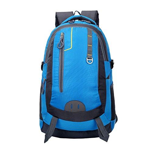 Yy.f40L Deportes Al Aire Libre Ocio Montañismo Trekking Viajes Viajes Gran Capacidad Moda Ciclismo Mochila Blue