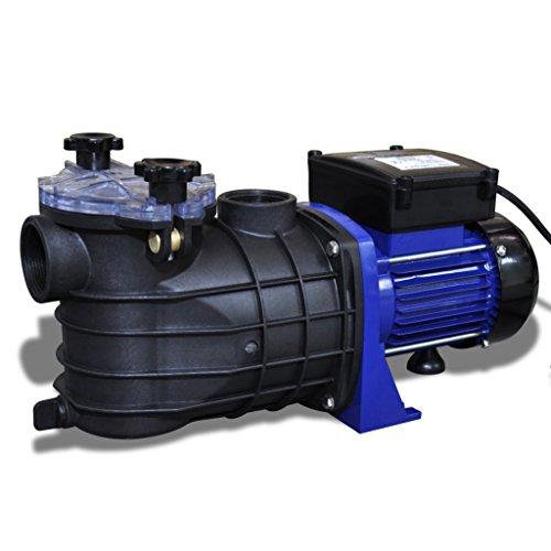 Schwimmbadpumpe Umwälzpumpe Poolpumpe Pumpe elektronik blau 500W