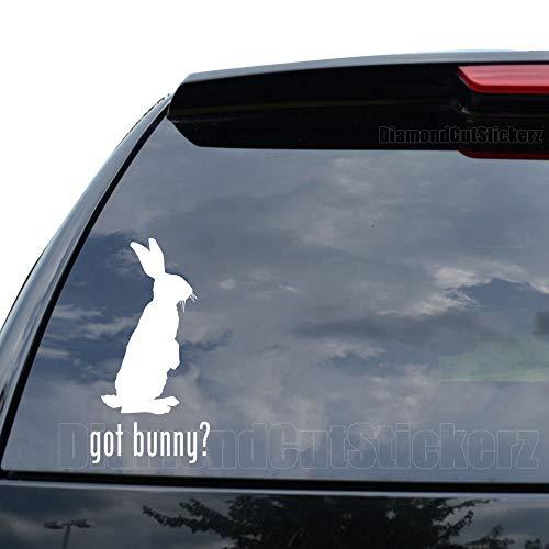DiamondCutStickerz GOT Bunny Rabbit PET Decal Sticker Car Truck Motorcycle Window Ipad Laptop Wall Decor - Size (05 inch / 13 cm Tall) - Color (Matte White)