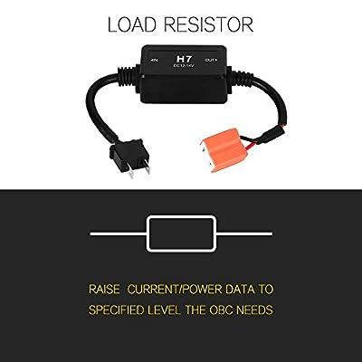 Auxbeam H7 LED Conversion Kit Headlight Canbus Error Free Anti Flickering Resistor Decoder: Automotive