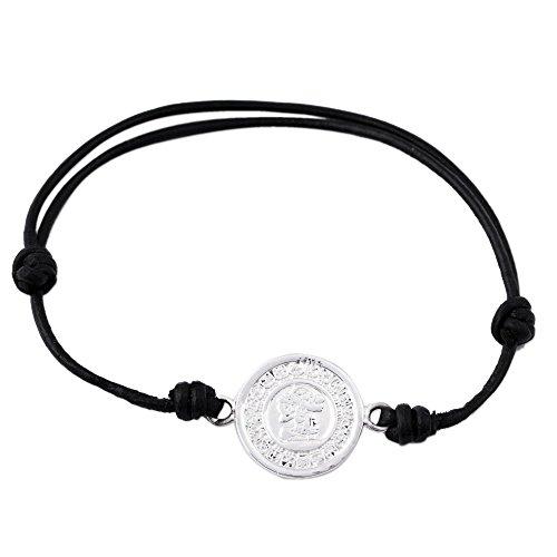 "Price comparison product image NOVICA .925 Sterling Silver Pendant Bracelet, 9.5"", 'Tzolk'in Maya Calendar'"