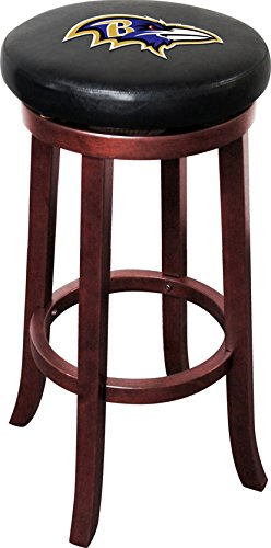 Imperial Officially Licensed NFL Furniture: Wooden Bar Stool, Baltimore  Ravens