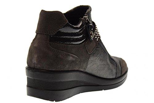 De Las Antracita 00 Enval Mujeres Deporte 89642 Zapatos Zapatillas Sin Cordones Soft Cuña ZnxqISE