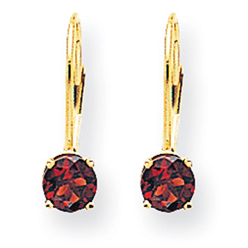 5 mm - 14 carats Grenat JewelryWeb Boucles d'oreilles dormeuses