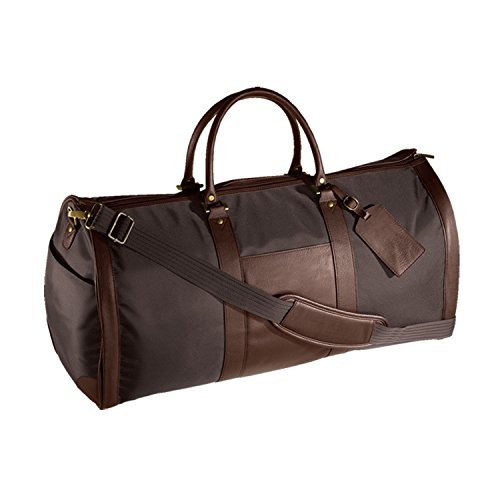 Andrew Philips Leather Nylon Metro Convertible Duffle/Garment Bag in Brown by Andrew Philips