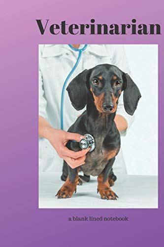 Veterinarian: a blank lined notebook, a diary or journal to plan or keep notes of activities Occupational Notebooks