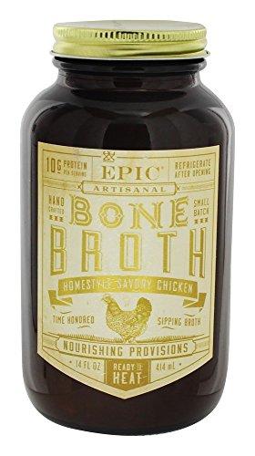 Epic Artisanal Bone Broth, Homestyle Savory Chicken, 14 oz.