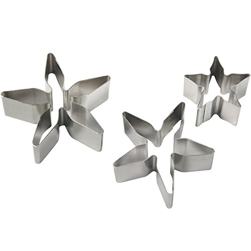 PME Set of 3 Rose Calyx Stainless Steel ()