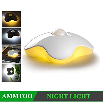 Clover LED Lamp PIR Auto Infrared Motion Sensor Sleeping Night Light Portable Bedroom Porch Outdoor LED