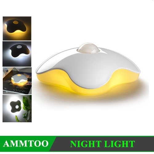 Amazon.com: Clover LED Lamp PIR Auto Infrared Motion Sensor Sleeping Night Light Portable Bedroom Porch Outdoor LED Light With Sticker: Baby