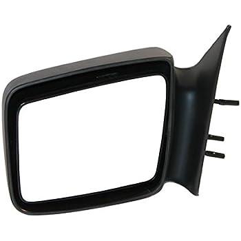 05-11 Dodge Dakota Mirror Left Driver NEW Manual Black Textured 5x7 fixed