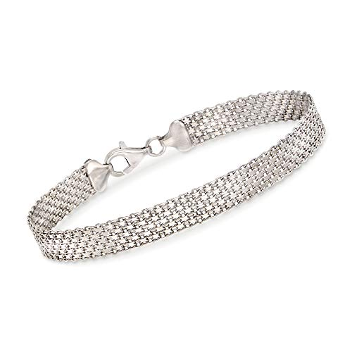 Ross-Simons Sterling Silver Bismark Chain Bracelet ()