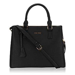 Hynes Victory Womens Classy Satchel Handbag (Black)