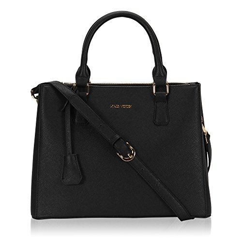 Black Satchel Handbag - 2