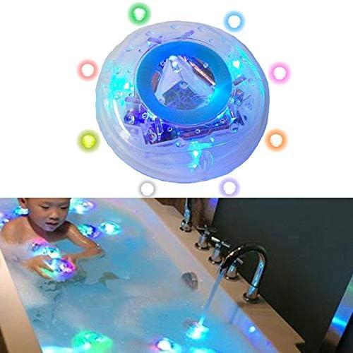 ZARQ Luces de piscina, luces de baño Bañera Luz subacuática alimentada por batería Lámpara de juguete Luces para niños Discoteca Spa Bañera Luz de piscina Lámpara de flotador Luz LED para niños: