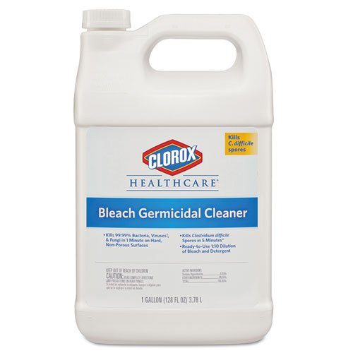 Clorox Professional Hospital Cleaner Disinfectant w/Bleach, 1 gal. Refill Bottle (4/Carton) - BMC-CLO 68978