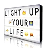 teen room decor Cinema Light Box with 190 Letters Symbols Emjios- A4 Size Cinematic Light Box DIY LED Letter Lamp for Home Decor Photo Shoots Birthday Party