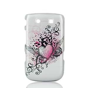Talon Phone Shell for BlackBerry 9800 Torch Bold - Grunge Heart