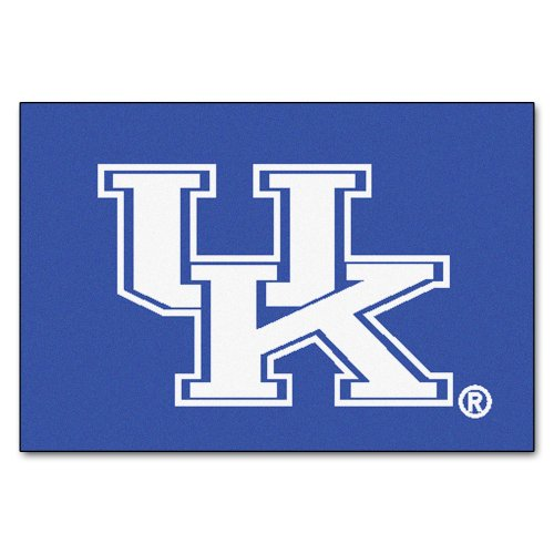 (FANMATS NCAA University of Kentucky Wildcats Nylon Face Starter Rug)