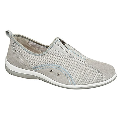 Boulevard Leisure Shoes Grey Zip Elastic Womens Gusset Ladies UFxHawU