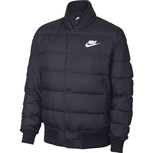 Nike Men's Down Fill Bomber Jacket, Black (Black/White), L