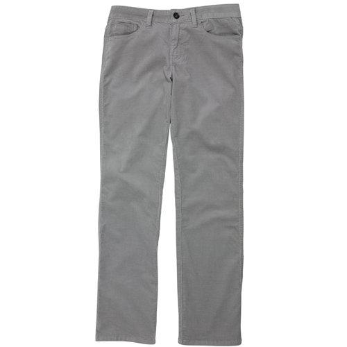 Calvin Klein Bootcut Regular Fit Corduroy Pants (12 x 32, Light Grey)