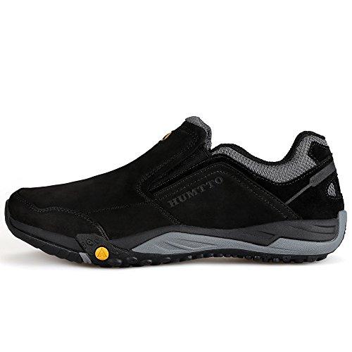 Humtto Calzado Para Caminar Hombres Al Aire Libre Trekking Zapatos Casuales Negro
