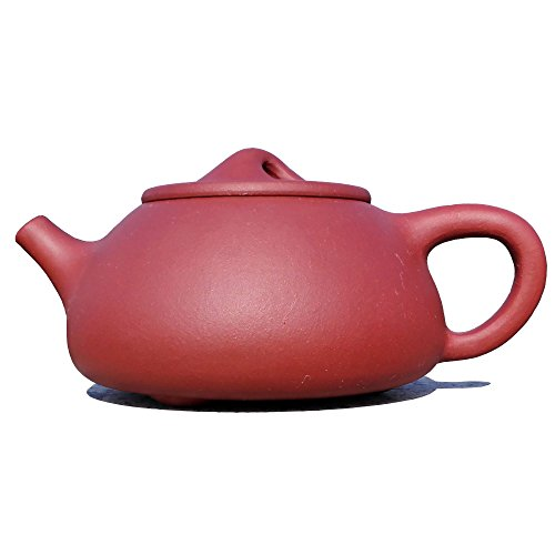 Yixing Teapot Ms Jiang Handmade Shipiao Tea Pot,Nature Red Clay,300cc