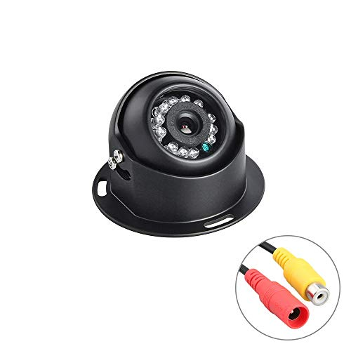 Dc Iris Dome Audio - Ghost thorn Dome Camera 1/3 S Ony CCD CCTV Camera Night Vision IR Backup Vehicle Metal Camera for Truck Bus Taxi (Edition : 600TVL, Interface : AV, Lens : 3.6mm)