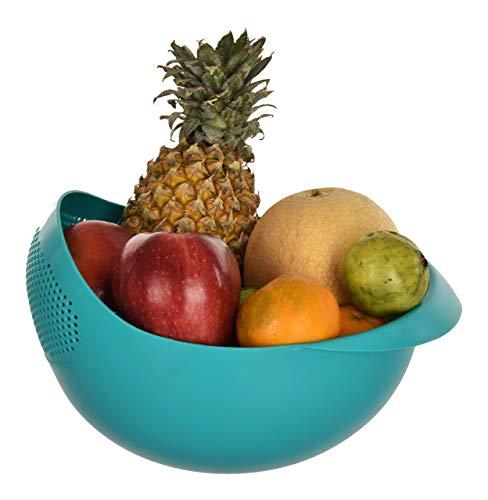 Cutting EDGE Strainer Colander | Fruit Basket | Pasta Strainer | Vegetable Strainer | Kitchen Sieve | Washing Bowl | Unbreakable | 1 x Big (SEA Green) Price & Reviews