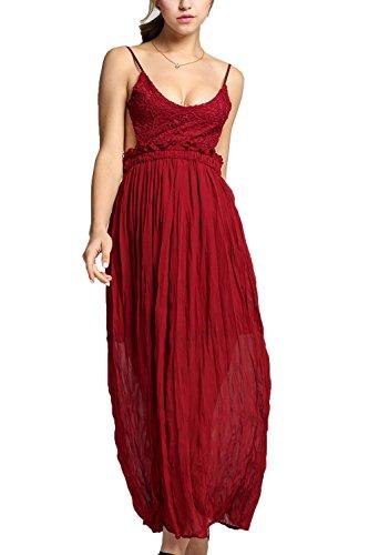 Kleid weinrot ruckenfrei