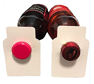 Blank wine bottle paper hang tags - 220 pieces - made in USA