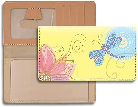 Garden Dragonflies Personal Leather Checkbook Cover for Top Tear Personal Checks