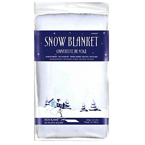 amscan Winter Wonderland Faux Snow Blanket | Christmas Decoration]()