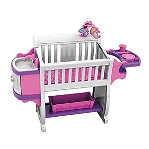 American Plastic Toys Kids' My Very Own Nursery Baby Doll Playset, Doll Furniture, Crib, Feeding Station, Learn to…