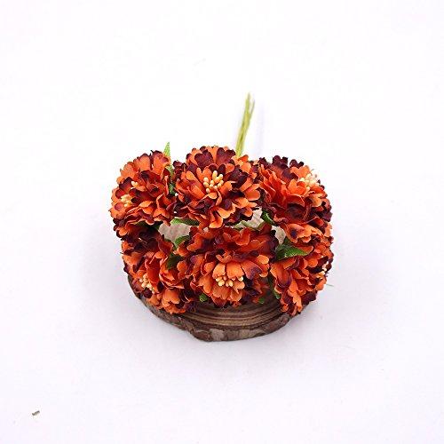 Artificial-Flower-Roses-Wedding-Decoration-Home-Decoration-Festivals-Party-Decorations-Silk-Daisy-Flower-30PCS-4CM-orange