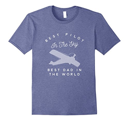 Mens Dad Father Airplane Pilot T Shirt Birth Day Gift.. XL Heather Blue Sleeve Pilot Shirt