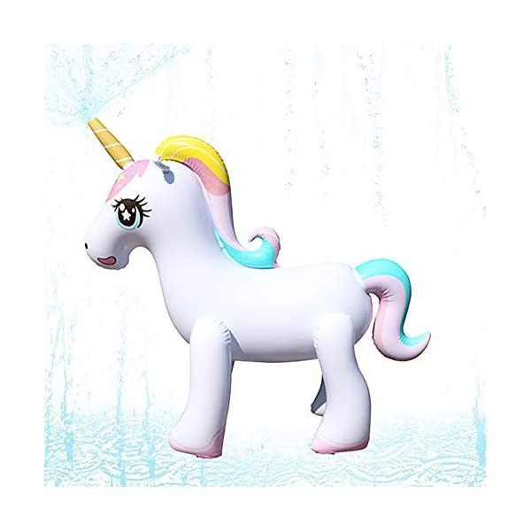 Happytime Giant Inflatable Unicorn Yard Sprinkler Newest Outdoor Inflatable Unicorn Sprinker Water Toy for Adults Kids… 3