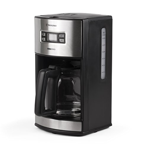 Westinghouse WCM12BSSA Select Series 12 Cup Programmable Coffee Maker, Black - Amazon Exclusive, Stainless Steel
