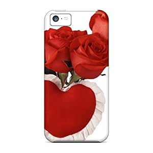 Fashion Protective Roses Red Heart Case For Sumsung Galaxy S4 I9500 Cover
