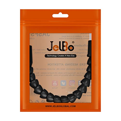 JelBo 11.8'' Flexible Drill Bit Extension, 1/4'' Hex Shank Magnetic Screwdriver Bit Holder Connect Link, Flex Drive Quick Connect Adapter of Power Tools Accessories by Electric Drill(Black)