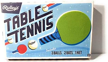 Amazon.com: Ridleys New Table Tennis PING Pong Game INCL Balls, NET, 2 Bats - High Performance: Electronics