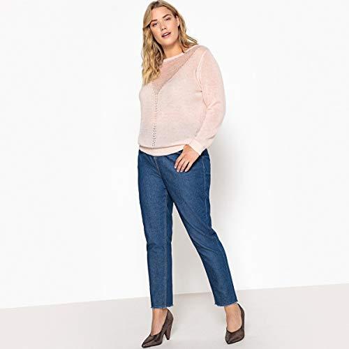 Castaluna Alta Jeans Mom Grezzo Blu Donna Vita 1nfrOg1