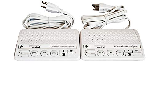 Intercom Central GROUND wire Power-line 3 CHANNELS Intercom System, Two Stations Set.