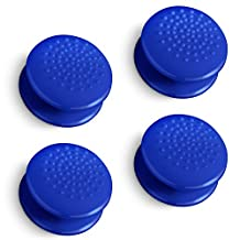 Fosmon [4-Pack / 2 Pairs] Analog Stick Joystick Controller Performance Thumb Grips for PS4 | PS3 | Xbox One / One X / ONE S | Xbox 360 | Wii U (Solid Blue)