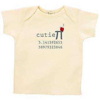 26 Degrees Forward Natural Organic Cotton Cutie Pi Toddler Tee, 2T