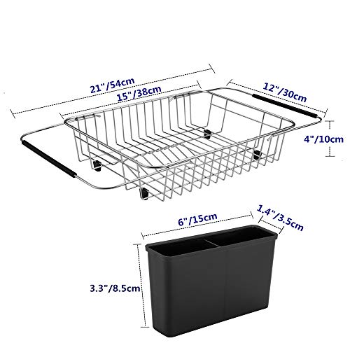 Expandable Dish Racks Drying Rack Over The Sink Adjustable