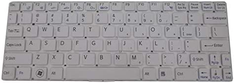 Laptop Keyboard for Sony VAIO SVE11 HMB8820NFJ-US United States US White Without Frame
