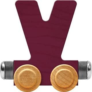 product image for Maple Landmark NameTrain Bright Letter Car V - Made in USA (Purple)