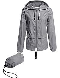 Womens Casual Long Sleeve Active Outdoor Raincoats...